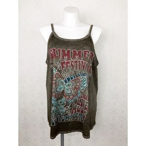 💜Maurices Brown Summer Festival July 4 Brown Tank